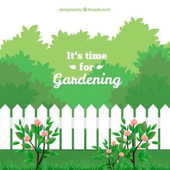 É hora de jardinagem