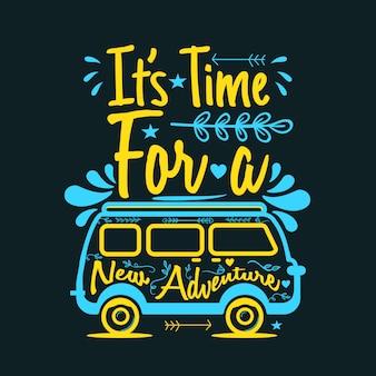 É hora de novas aventuras