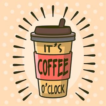 É hora do café