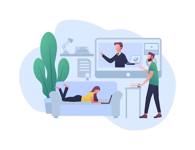 E - ilustração do conceito de aprendizagem