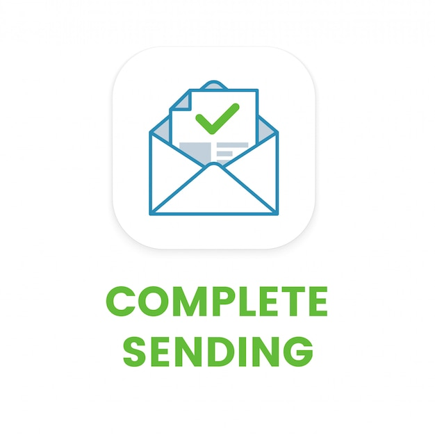 E-mail completo envio ícone plana