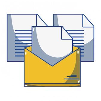 E-mail dos desenhos animados abertos