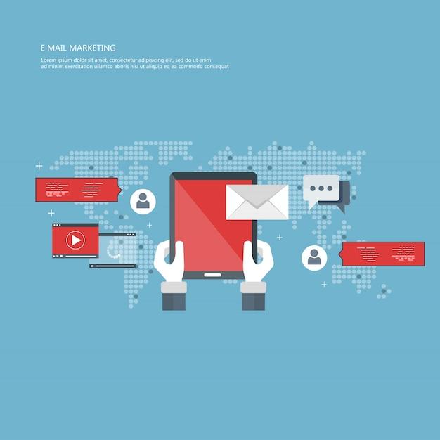 E mail marketing concept