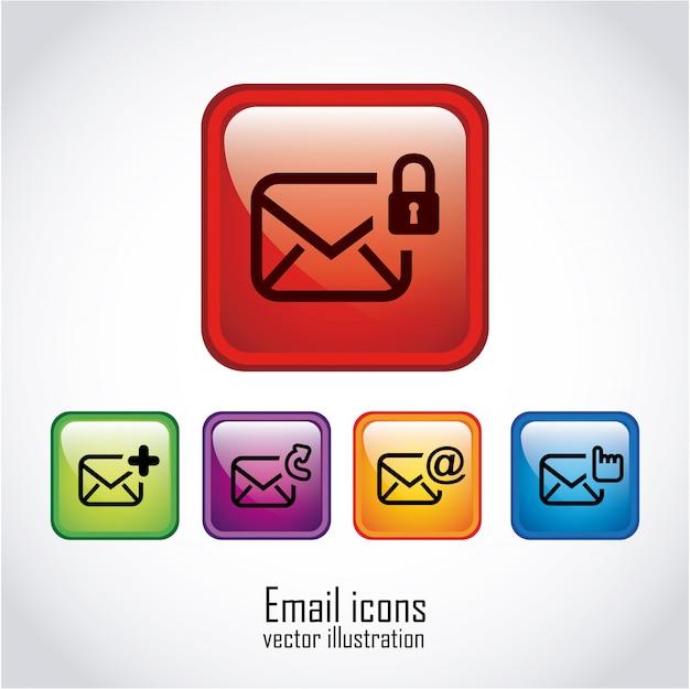 E-mail sobre ilustração branca