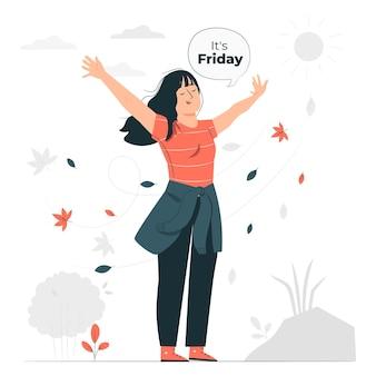 É sexta-feira ilustração do conceito
