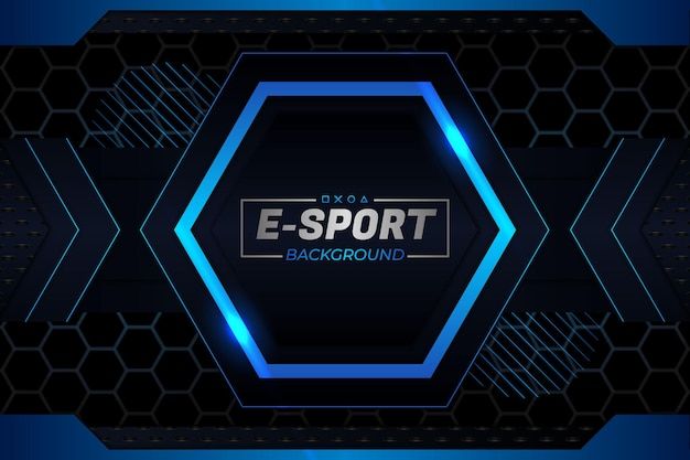 E-sports background escuro e estilo azul