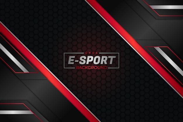 E sports background escuro e estilo vermelho