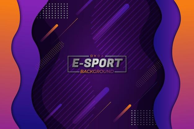 E-sports background roxo laranja fluido estilo