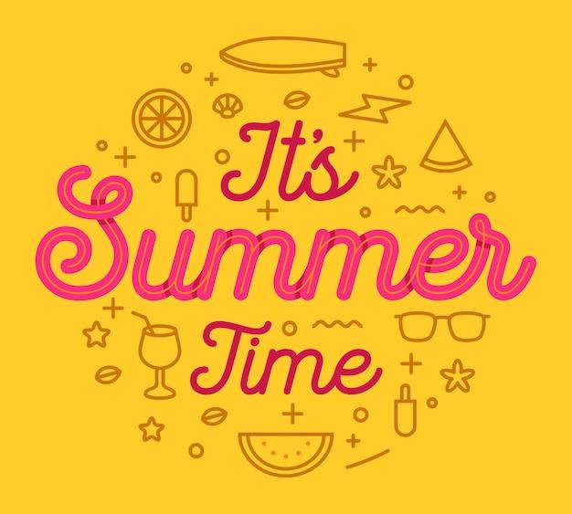 É tipografia de horário de verão
