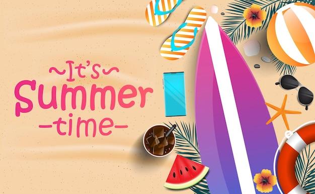 É um banner de horário de verão em design plano