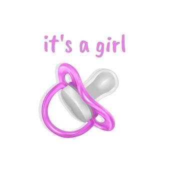 É uma mensagem de menina. cartão de design de chá de bebê