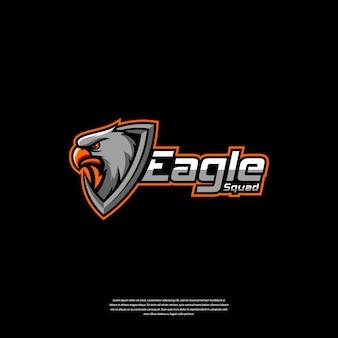 Eagle e ilustração do design do logotipo do esporte