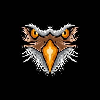 Eagle face logo