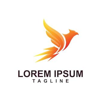 Eagle logo premium com cores modernas