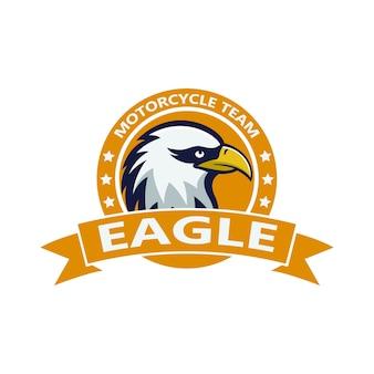 Eagle mascote ilustração do logotipo do elemento esporte