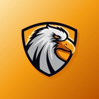 Eagle shield e-sport logotipo