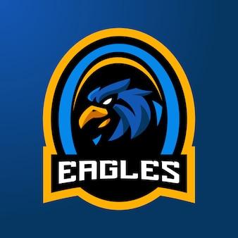 Eagles shiled esport logotipo