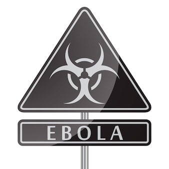 Ebola danger black sign