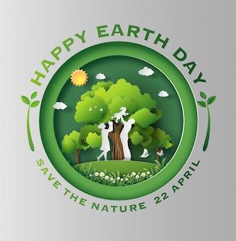 Eco amigável e conceito do dia da terra.