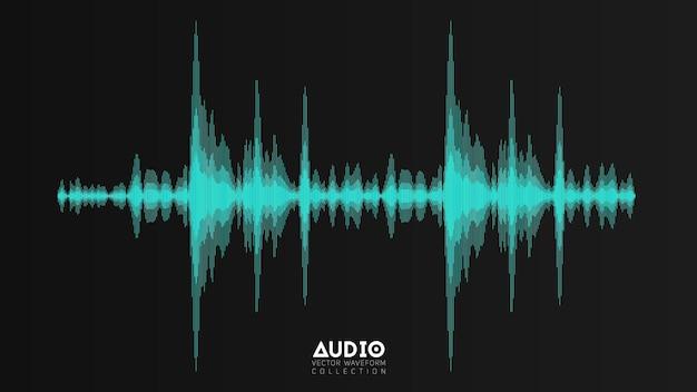 Eco de onda de áudio