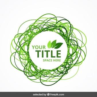 Eco emblema verde do doodle