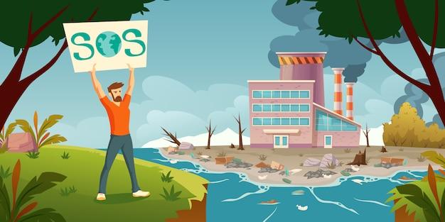 Eco protesto, salvar o conceito de planeta