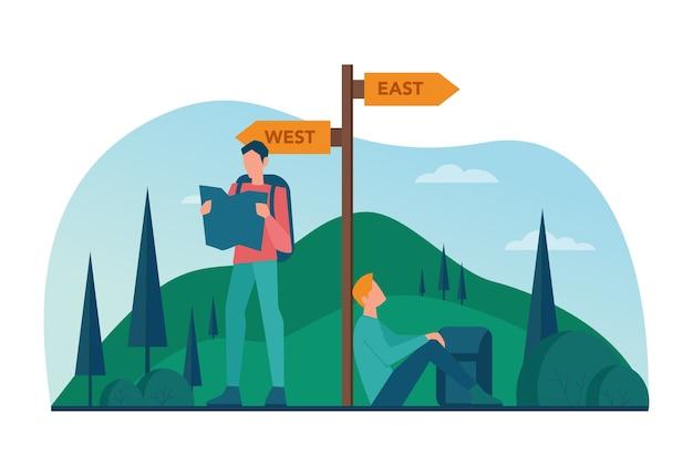Eco turismo e conceito de viagem ecológica