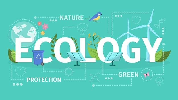 Ecologia e conceito de energia verde. ideia de recursos alternativos
