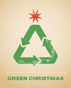 Ecologia e reciclagem de fundo de natal