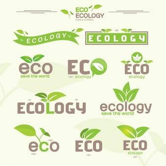 Ecologia etiqueta a coleção