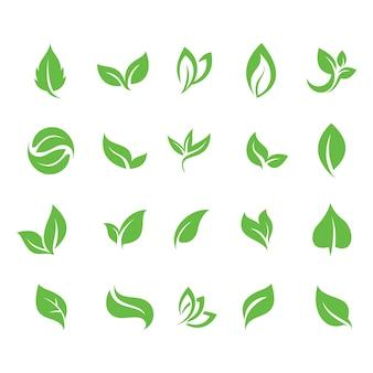 Ecologia green leaf symbol icon symbol