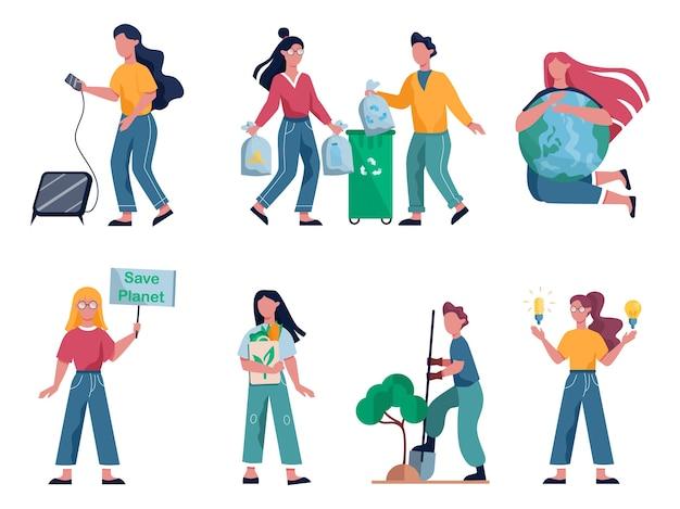 Ecologia. ideia de reciclagem, coleta seletiva e energia alternativa.