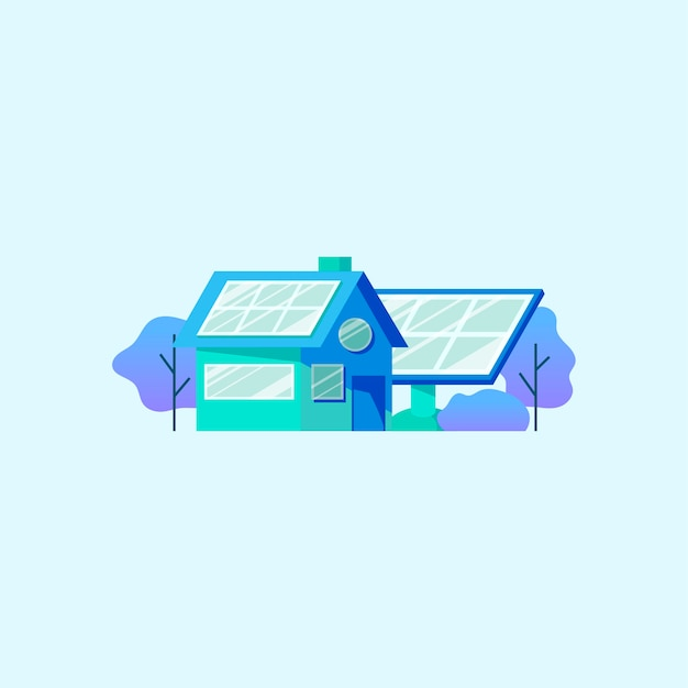 Economia de energia com painel solar