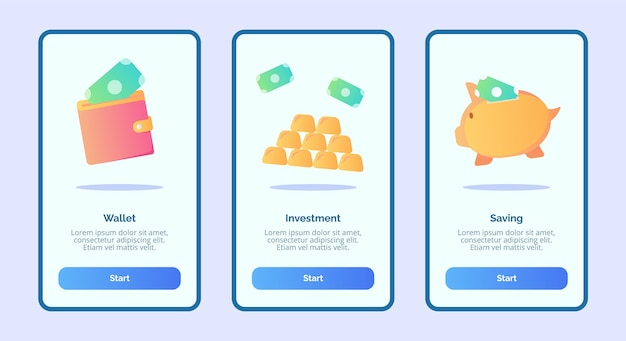 Economia de investimento da carteira para aplicativos móveis