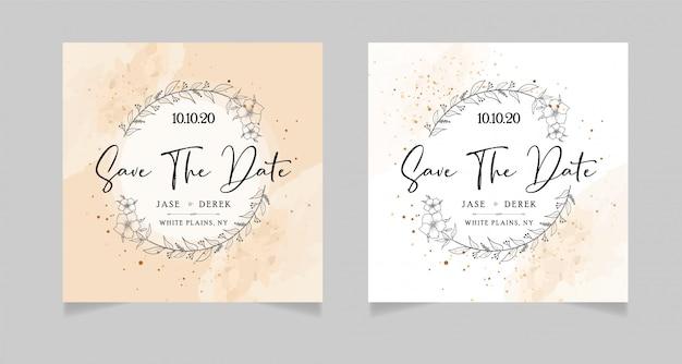Economias de casamento o cartão de datas
