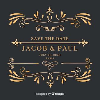 Economias decorativas o convite do casamento da data