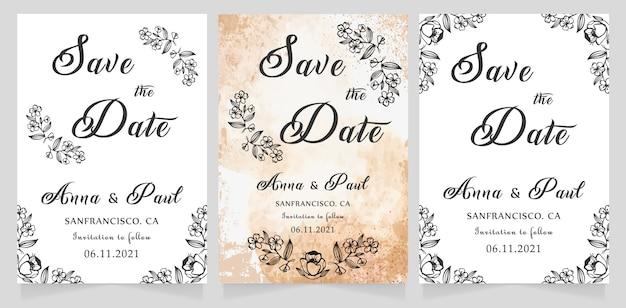 Economias do casamento o cartão de data