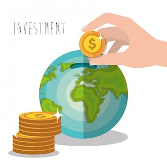 Economias e investimentos em dinheiro
