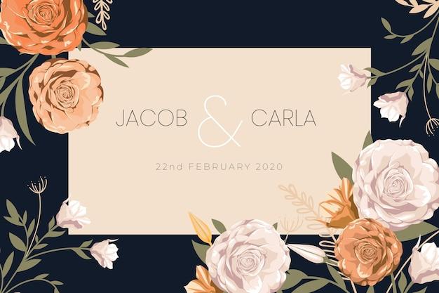 Economias florais o convite do casamento da data
