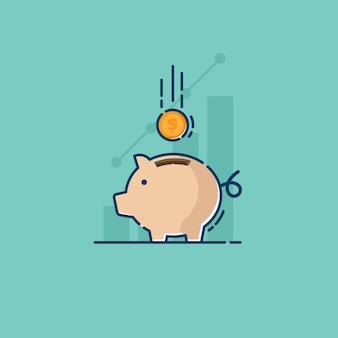 Economizando com cofrinho e moeda