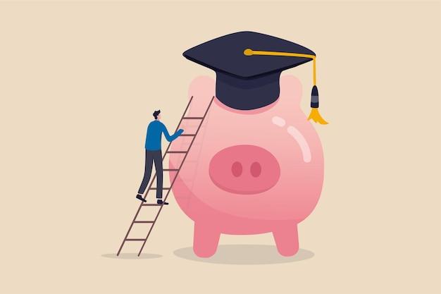 Economizando dinheiro para obter o diploma ilustração