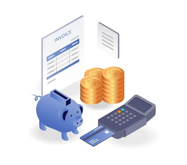 Economizando dinheiro para relatórios de fatura