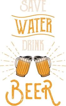 Economize cerveja bebada e bebida