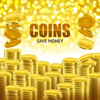 Economize dinheiro cartaz financeiro
