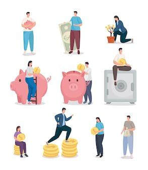 Economize dinheiro e pessoas com a coleção de moedas