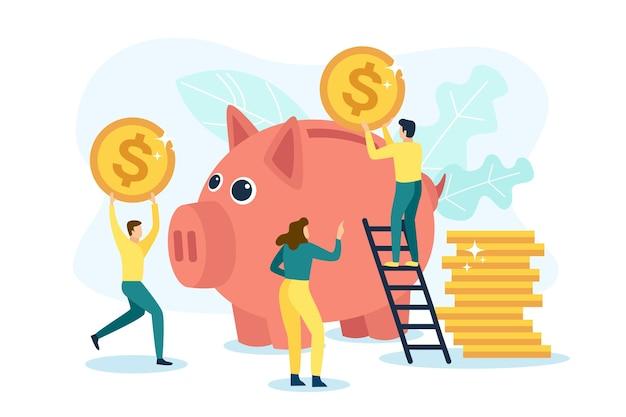 Economize dinheiro em um cofrinho