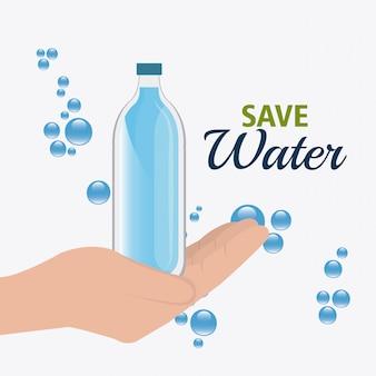 Economize o desenho da água.