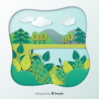 Ecossistema e conceito da natureza