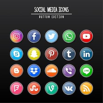 Edição de botão de mídia social
