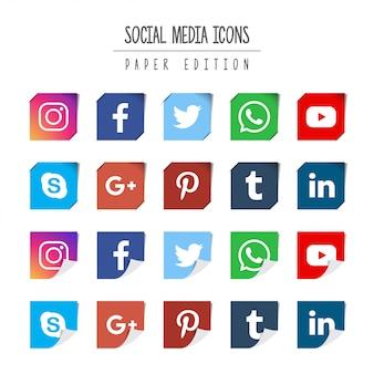Edição de papel de mídia social